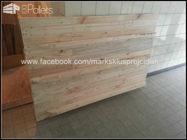 Photo Wall Made of Recycled Pallet Wood Pallet Shelves & Pallet Coat HangersPallet Wall Decor & Pallet Painting
