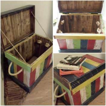 Reclaimed Pallet Into Kids Toy Box