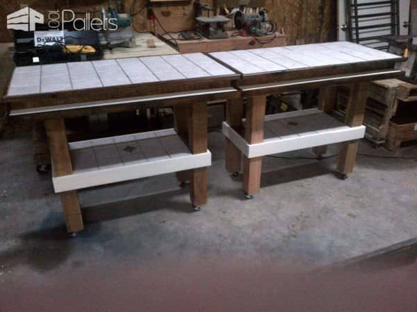 Repurposed Pallet Bar Tables DIY Pallet BarsPallet Desks & Pallet Tables