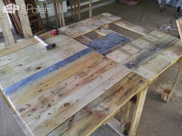 Repurposed Pallet Table Pallet Desks & Pallet Tables