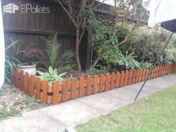 Repurposed Pallets Into Fence Pallet Fences