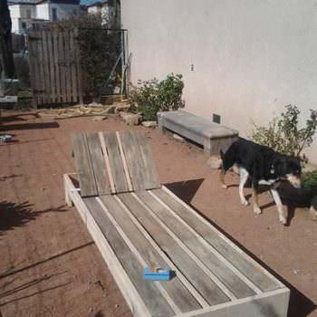 Sunbed Out Of 3 Wooden Pallets