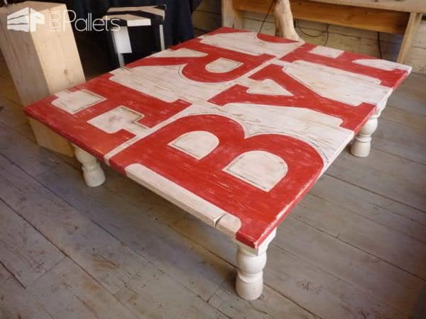 Table Basse Bois De Grosse Palette / Coffee Table Made With Big Pallet Wood Pallet Coffee Tables