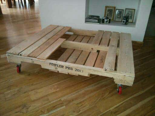 Table basse en palette pallet coffee table pallet ideas 1001 pallets - Fabrication table basse palette ...