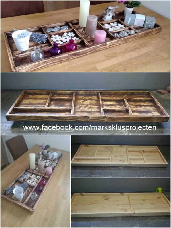 Tray Made of Recycled Pallet Wood Pallet Furniture