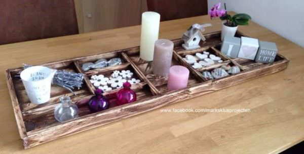 Tray Made of Recycled Pallet Wood DIY Pallet Furniture