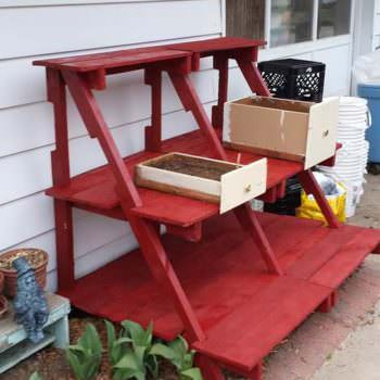 A Pallet Plant Stand