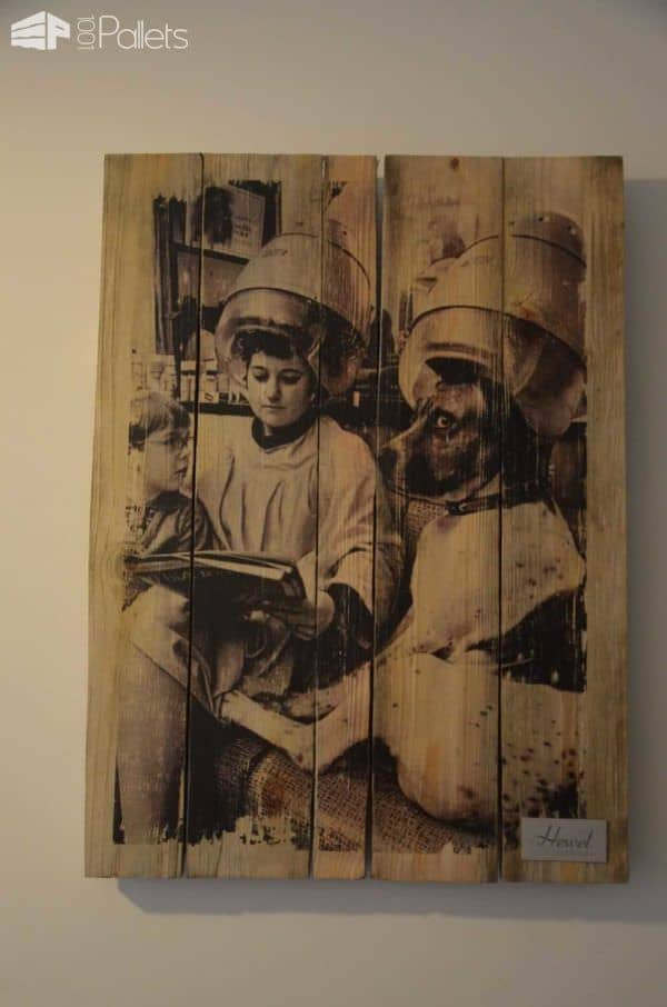 Pallet as Wall Picture Pallet Wall Decor & Pallet Painting