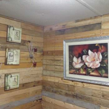 Pallet Bedroom Wall