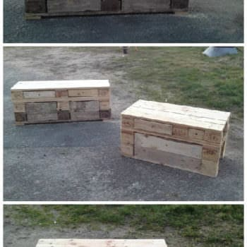 Pallet Benches With Storage Drawers