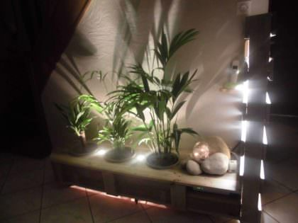 Pallet Indoor Planter With Lights 1001 Pallets
