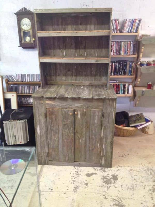Recycled Pallet Into Kitchen Hutches Pallet Cabinets & Wardrobes