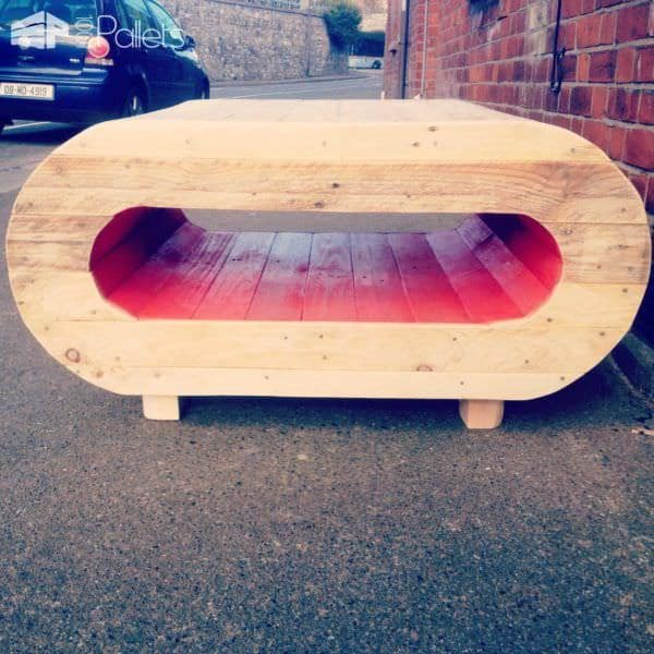 Space Pod Table / TV Stand From Pallet Wood Pallet Coffee Tables Pallet TV Stand & Rack