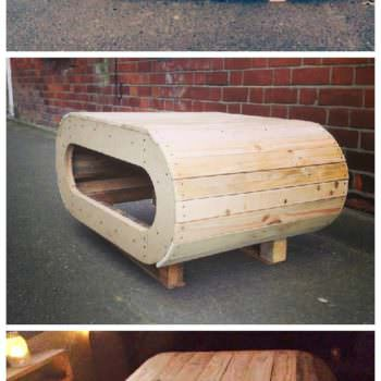 Space Pod Table / TV Stand From Pallet Wood
