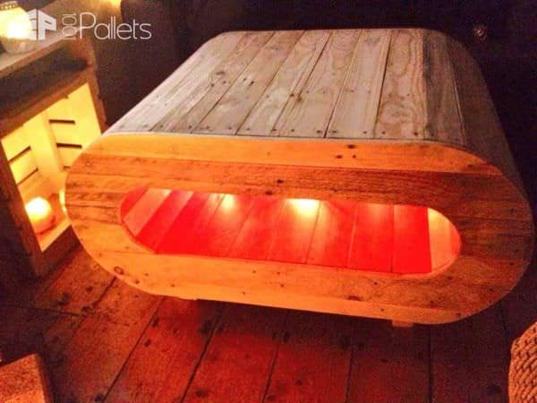 Space Pod Table / TV Stand From Pallet Wood Pallet Coffee TablesPallet TV Stand & Rack