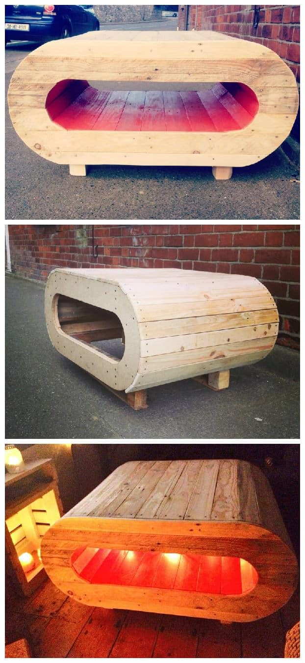 Space Pod Table Tv Stand From Pallet Wood 1001 Pallets