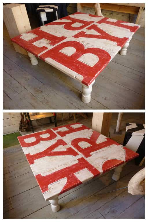 Table Basse Bois De Grosse Palette / Coffee Table Made With ...