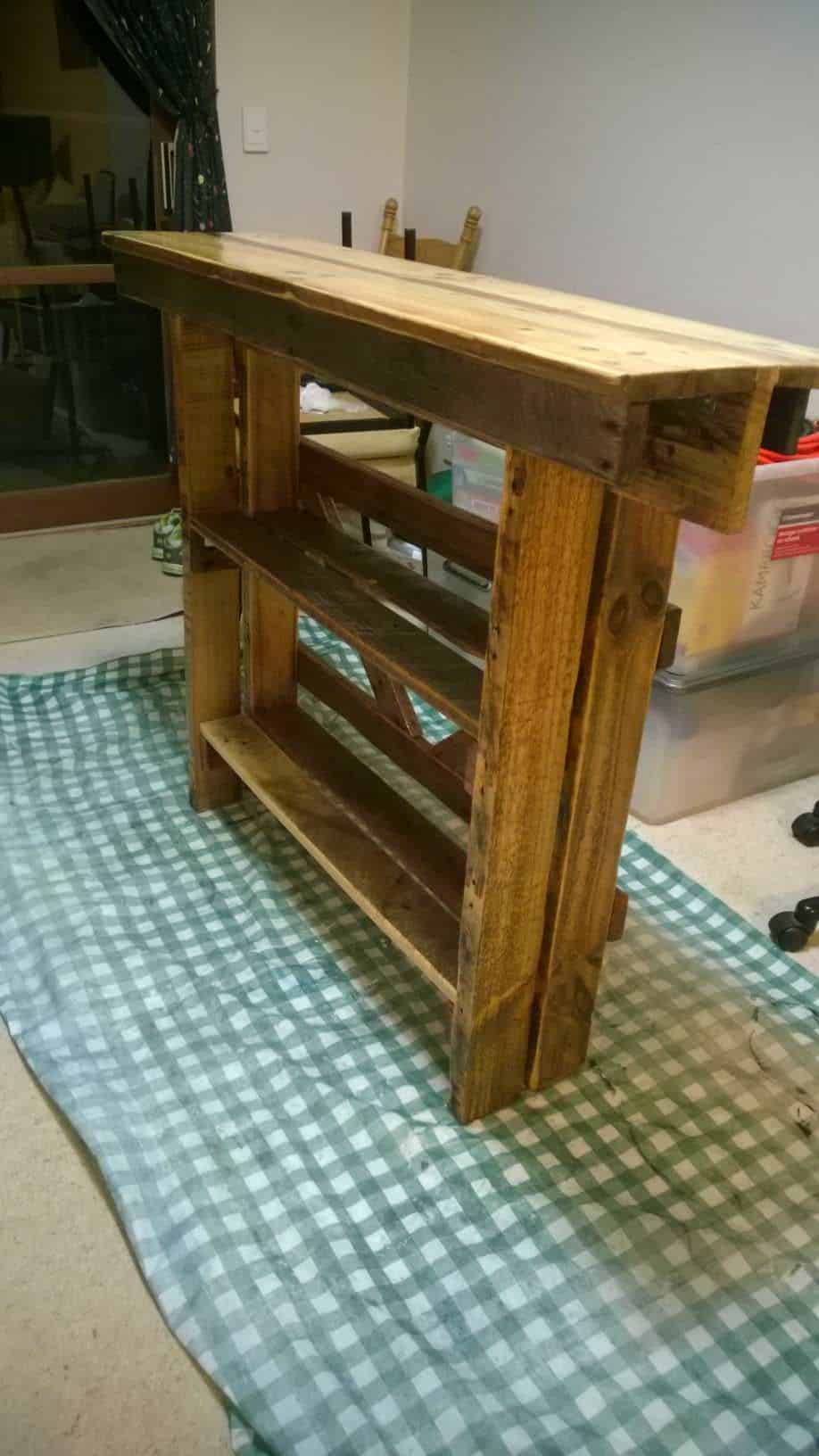 Wall Side Table From Repurposed Pallet 1001 Pallets