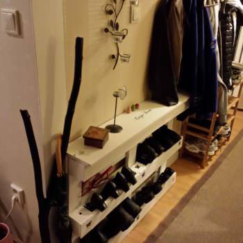 Pallet Shoes Storage In Your Entrance / Skohylla