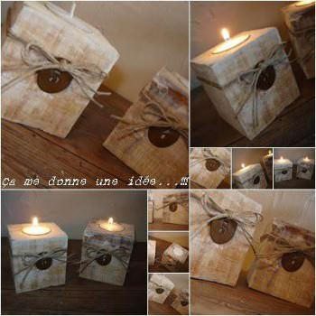 Bougeoir Pieds De Palette / Pallet Blocks Into Candle Holders