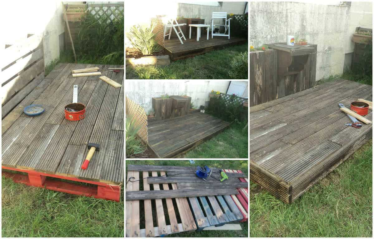 100 r cup pallets terrace 1001 pallets for Palette table de jardin