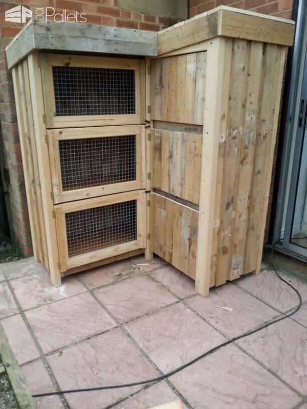 8ft Corner Rabbit Hutch Animal Pallet Houses & Pallet Supplies