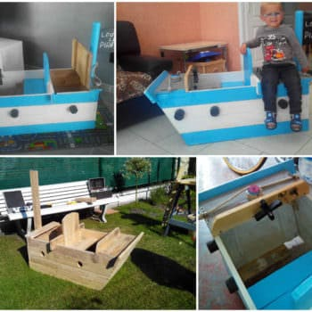 Bateau Pirate / Kids Pirate Ship Made From Pallets