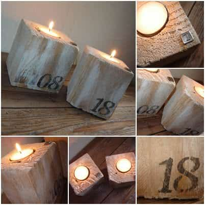 Bougeoir Pieds De Palette / Pallet Blocks Into Candle Holders Pallet Candle Holders