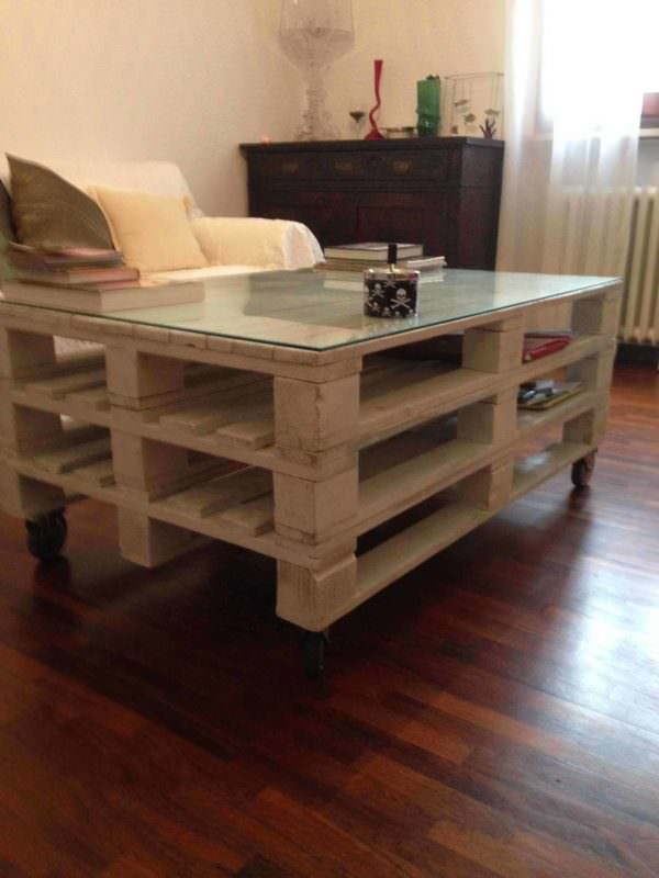 Coffee Table From 3 Euro Pallets Pallet Coffee Tables
