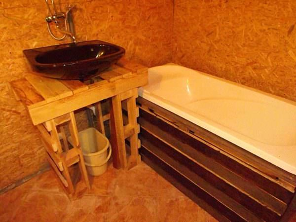 Cottage Bathroom Pallet Desks & Pallet Tables