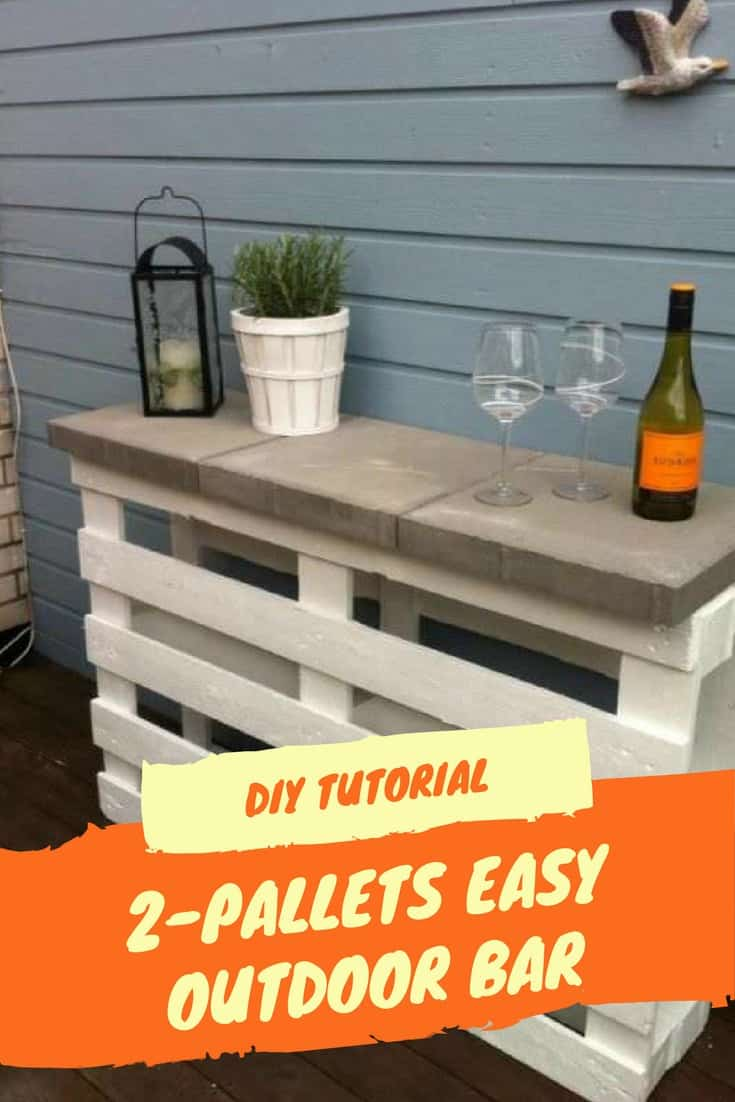 Diy Tutorial Easy Pallet Bar Made Using 2 Pallets 1001