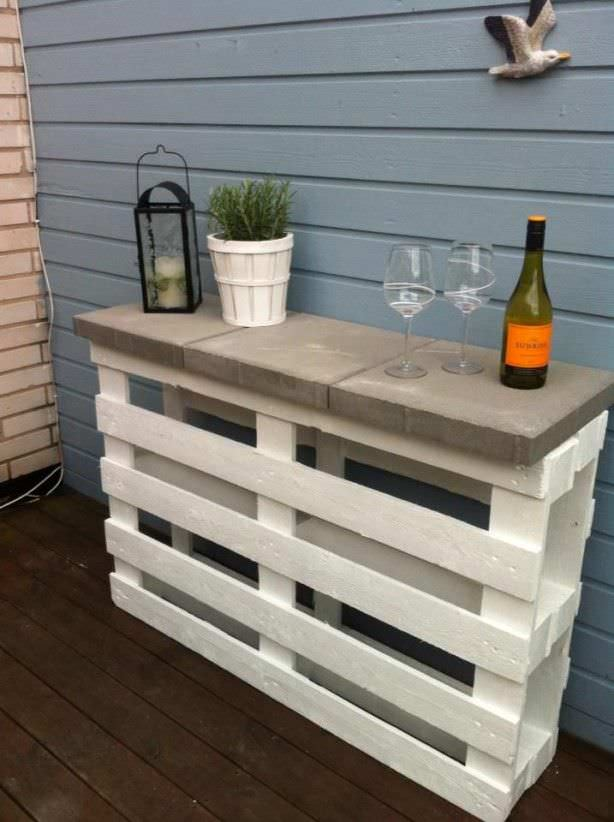 Easy DIY Project Pallet Outdoor Bar 1001 Pallets