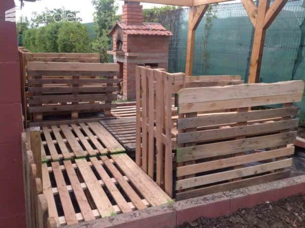 Elevated Pallet Garden Planters Pallet Planters & Compost Bins