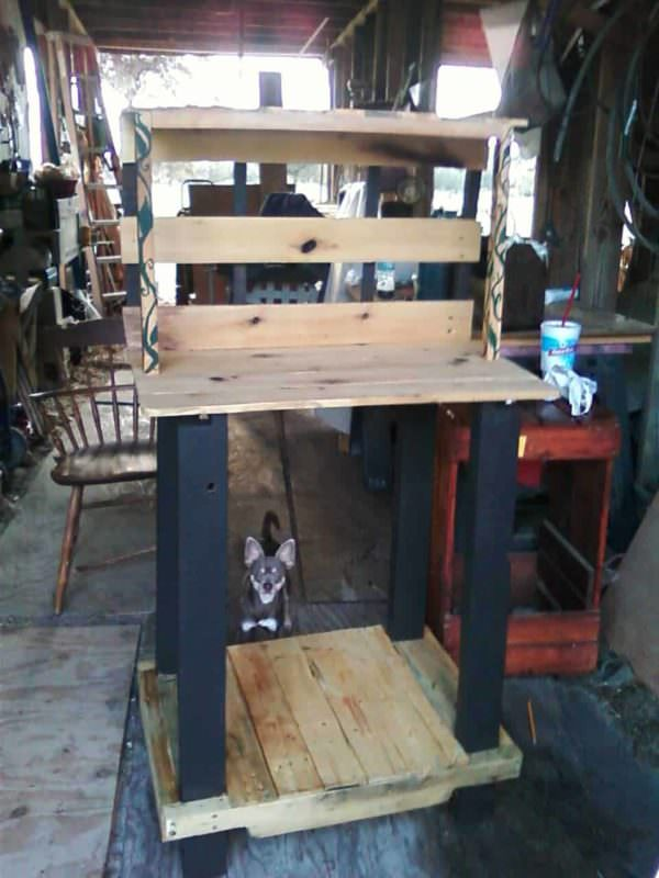 Garden Potting Table Pallet Desks & Pallet Tables