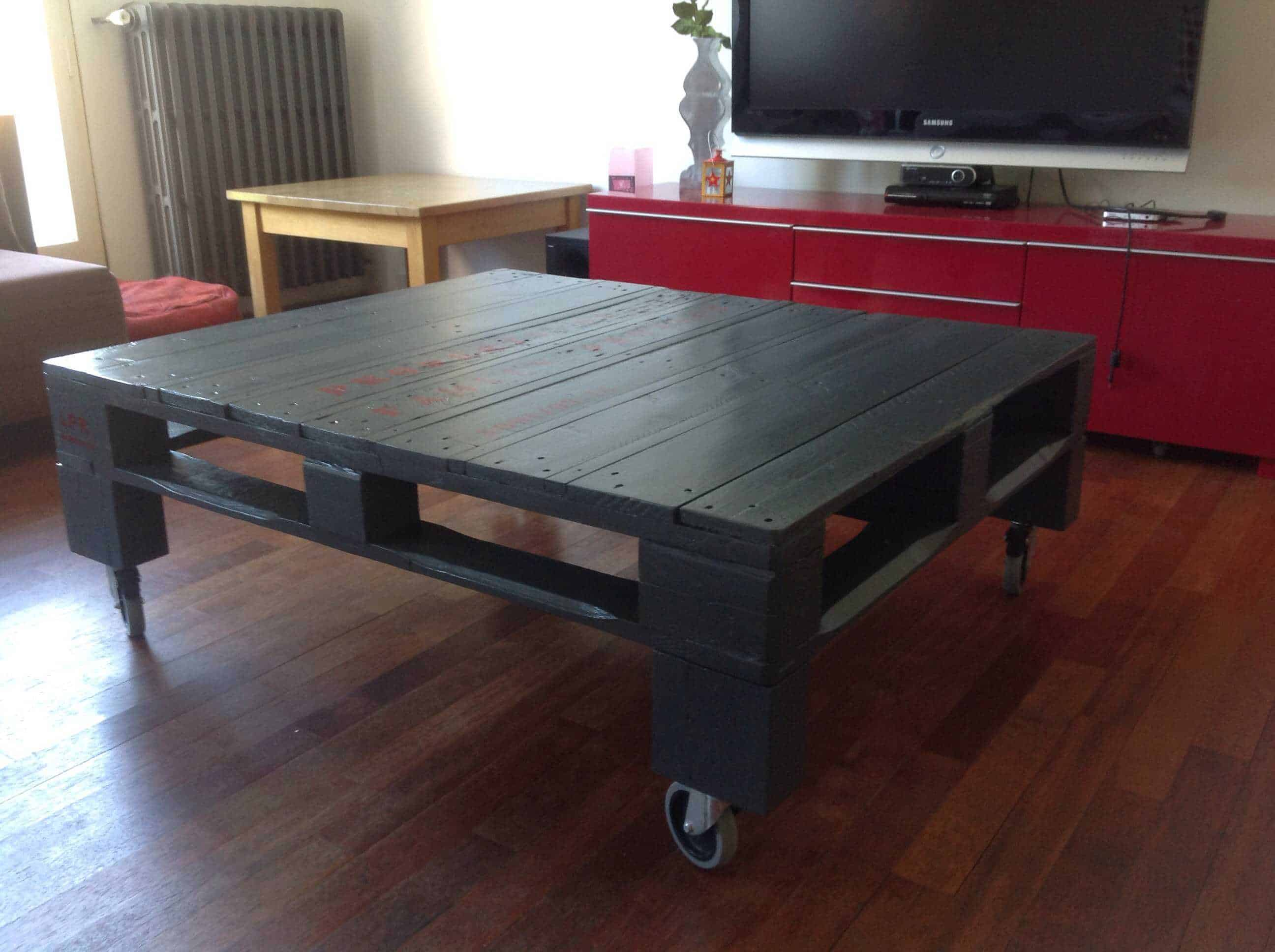 1001pallets.com grey pallet coffee table Diy Fish Tank Coffee Table