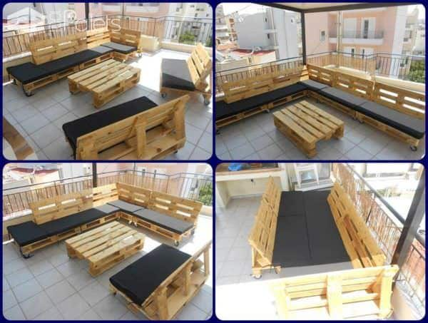Jesus Art Best Of! Lounges & Garden Sets Pallet Benches, Pallet Chairs & Stools