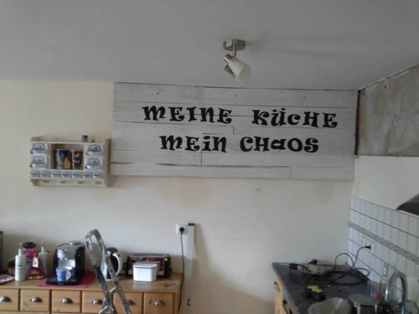 Kitchen Chaos: Pallet Frame Pallet Wall Decor & Pallet Painting