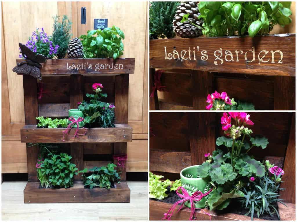 mini jardin en palette pallet mini vertical garden 1001 pallets. Black Bedroom Furniture Sets. Home Design Ideas