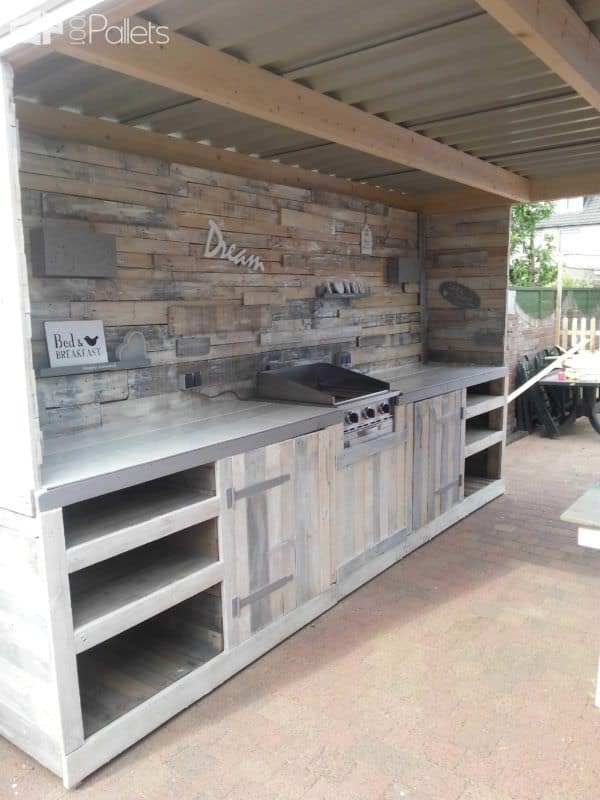 Pallet Outdoor Dream Kitchen2