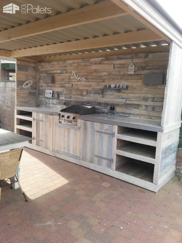 Pallet Outdoor Dream Kitchen3