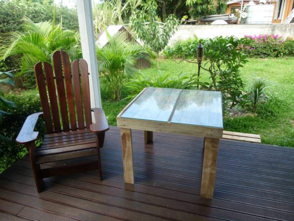 Pallet Adirondak Chair & Its Table Pallet Benches, Pallet Chairs & Pallet Stools