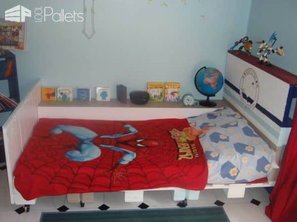 Pallet Bed for Kids DIY Pallet Bed Headboard & Frame