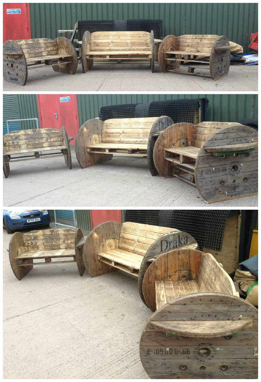 Pallet Amp Cable Drum Benches 1001 Pallets