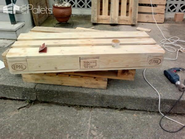 Pallet Garden Chair With Drawers Pallet Benches, Pallet Chairs & Stools