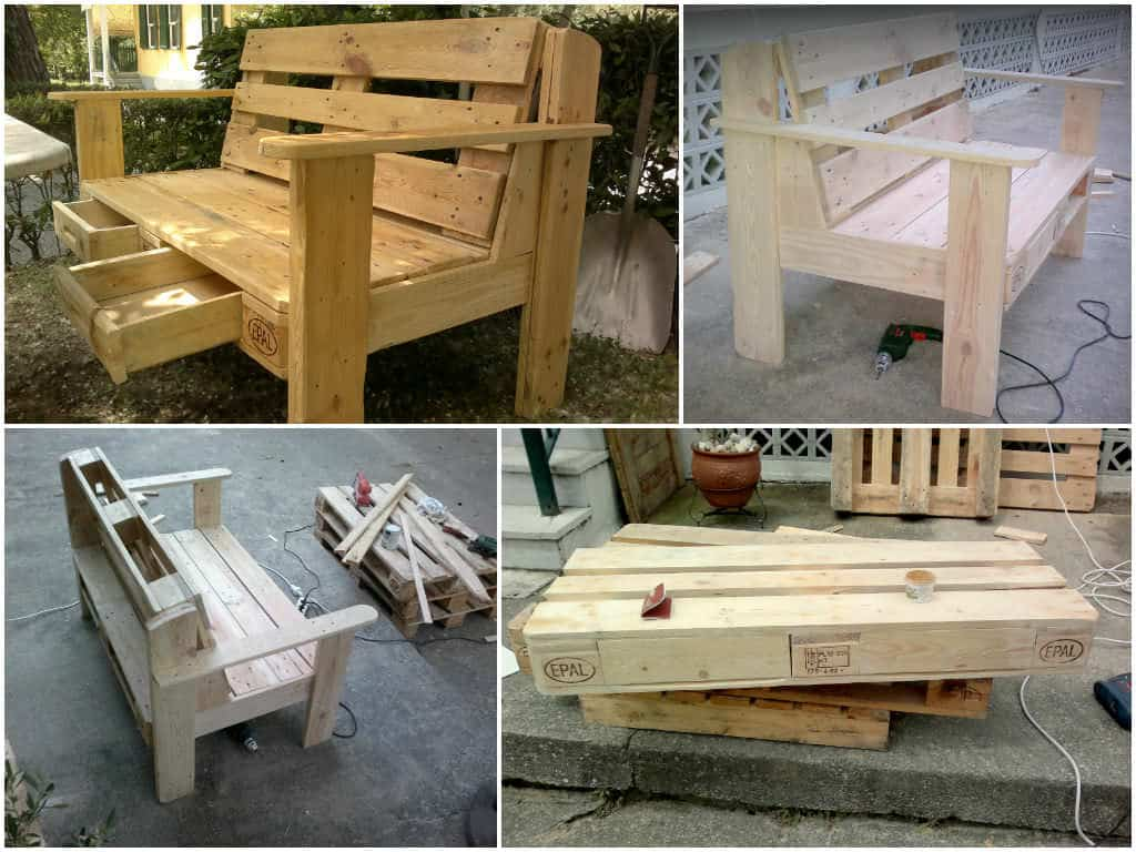 Pallet Garden Chair With Drawers • 1001 Pallets