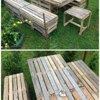 Pallet Garden Table & Bench