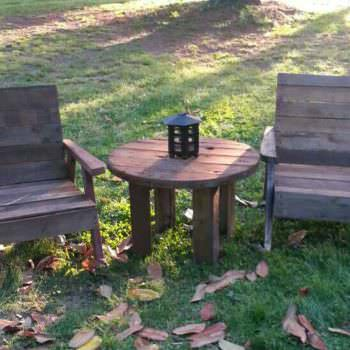 Pallet Garden Table & Chairs