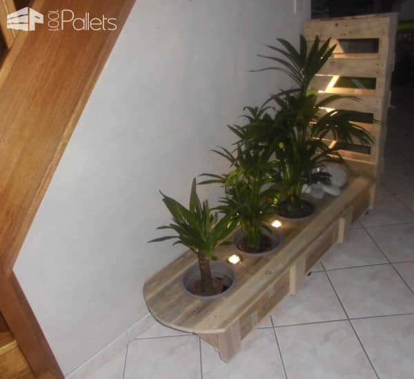 Pallet Indoor Planter With Lights Pallet Planters & Pallet Compost