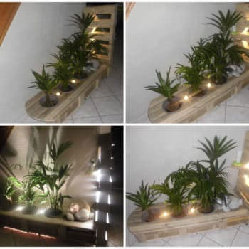 Pallet Indoor Planter With Lights