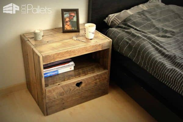 Pallet Nightstand Pallet Desks & Pallet Tables